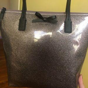 Kate Spade Grey Glitter bag